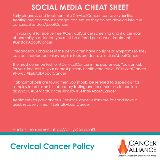 CA Cervical Cancer Toolkit 3- DETECTING CERVICAL PRE-CANCER-Cheat-Sheet